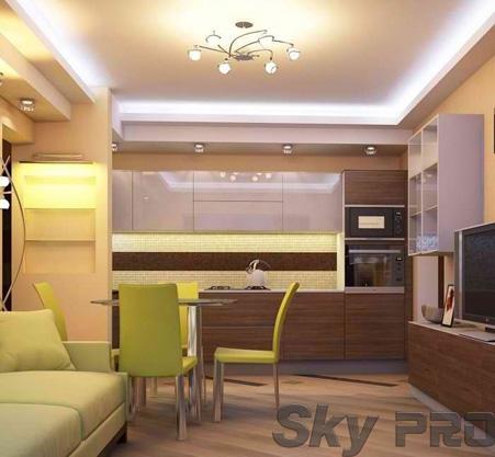 Натяжной потолок со светодиодной подсветкой