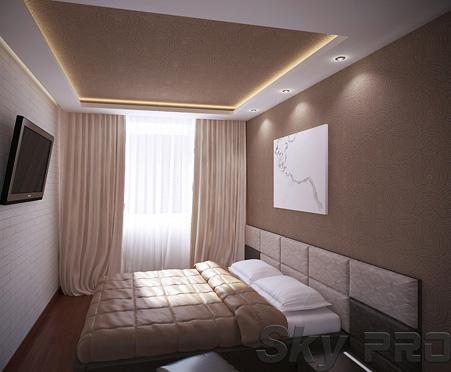 многоуровневый сатиновый потолок фото